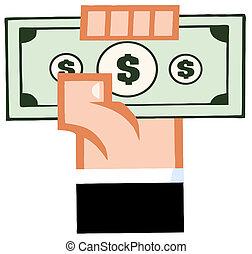kéz, noha, készpénz