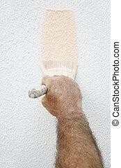 kéz, painter's
