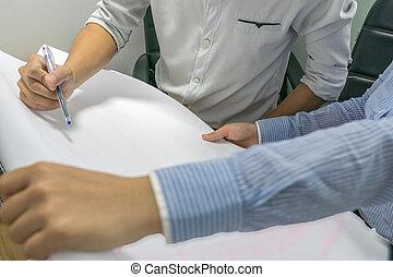kéz, terv, terv, rajz, közelkép, dolgozat, akol, birtok