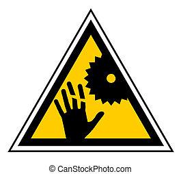 kéz, veszély