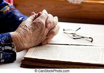 kézbesít, imádkozás