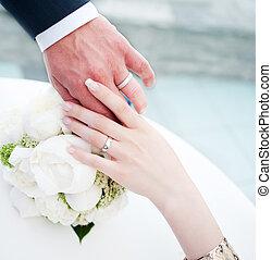 kézbesít, közül, lakodalmi, párosít, noha, esküvő gyűrű