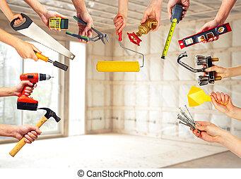 kézbesít, noha, szerkesztés, tools.