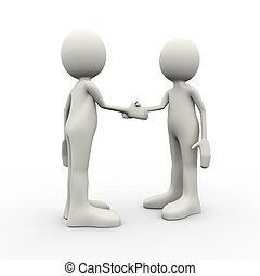 kézfogás, 3, emberek