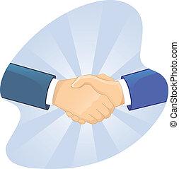 kézfogás, férfiak, két