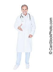 kézfogás, hím, ajánlat, orvos