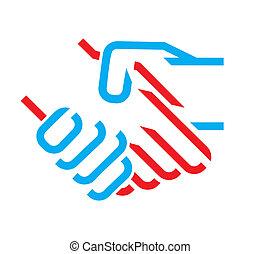 kézfogás, ikon