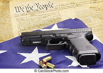 kézifegyver, és, alkotmány