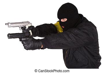 kézifegyver, rabló