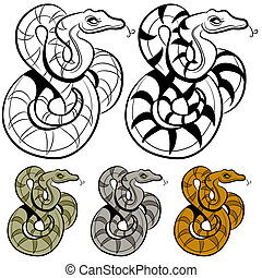 kígyó, rajz