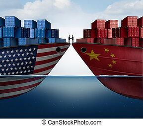 kína, egyesült államok, kereskedik egyezmény