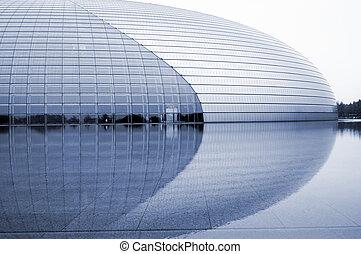 kína, nemzeti, nagy, színház