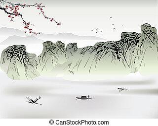 kínai, festmény