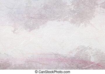 kínai,  landscape),  (mountain, Kivonat, dolgozat, festmény
