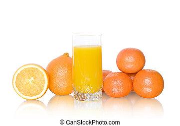 kínai mandarin, lé, narancsfák
