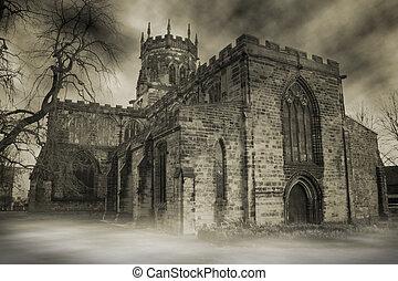 kísérteties, angol templom