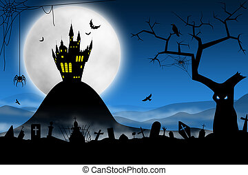 kísérteties, halloween éjszaka