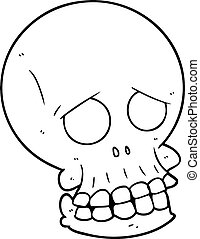 kísérteties, karikatúra, koponya