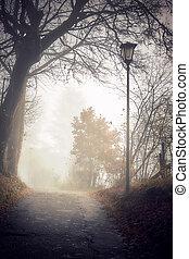 kísérteties, színhely, ködös