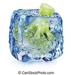köb, brokkoli, jég