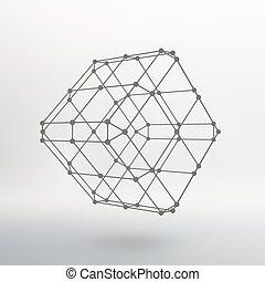 köb, lattice., adottság, dots., megvonalaz, elhelyezett,...