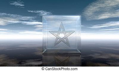 köb, pohár, -, vakolás, pentagram, 3