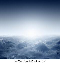 ködös, napkelte