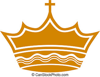 königlich, kreuz, krone