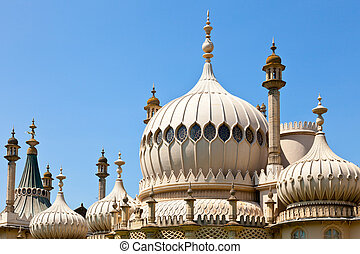 königlich, pavillon, kuppeln, brighton