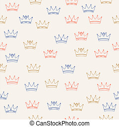 königlich, seamless, muster
