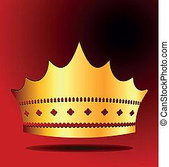 königliche krone, abbildung, gold