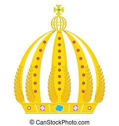 königliche krone, gold