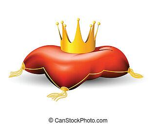 königliche krone, kissen