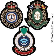 königliches emblem, akademisch, schutzschirm