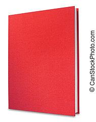könyv, elszigetelt, piros