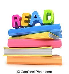 könyv, felolvasás