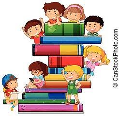 könyv, gyerekek
