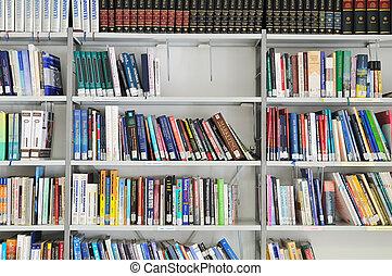 könyv, könyvtár