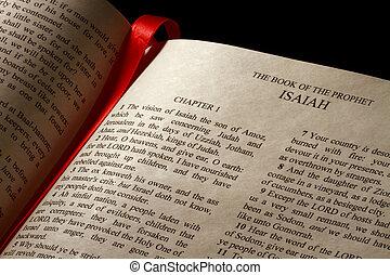 könyv, közül, ézsaiás