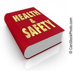 könyv, közül, health biztonság, döntések, előírások