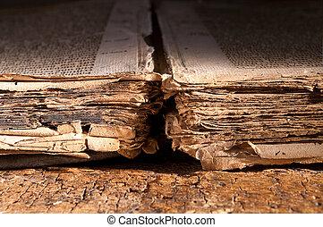 könyv, közül, sötét középkor