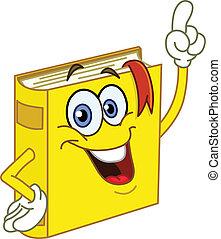 könyv, karikatúra