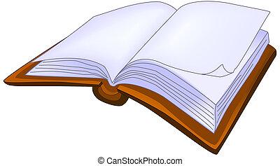 könyv, kinyitott