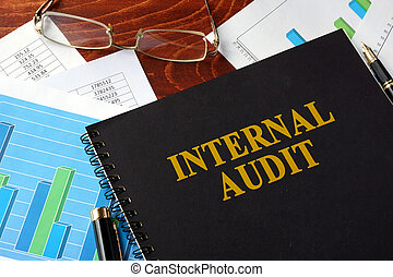 könyv, noha, cím, belső, audit.