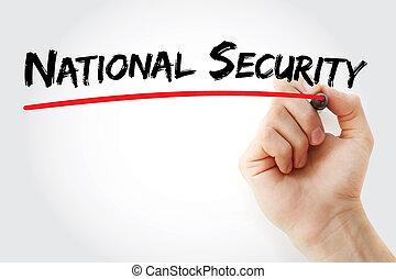 könyvjelző, nemzeti, kéz, biztonság, írás