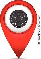 könyvjelző, térkép, jelkép, futball