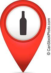 könyvjelző, térkép, jelkép, palack