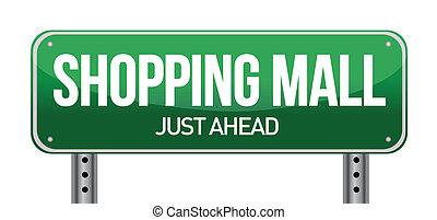 köpcenter, vägmärke