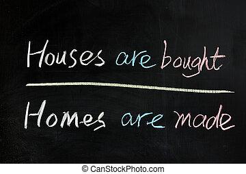 köpt, hus, gjord, hemmen