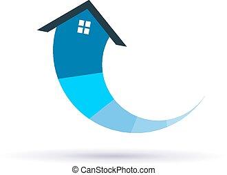 kör alakú, épület, noha, kiegyenlít